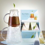 Steep hot tea and flash chill for a delicious glass of Tea Forte iced tea