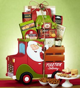 Santa's Holiday Delivery Truck Gift Basket