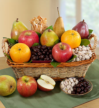 Modesto Valley Fruit & Nut Gift Basket Product Code:96093
