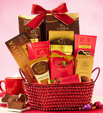 Godiva® Valentine's Day Chocolates Gift Basket