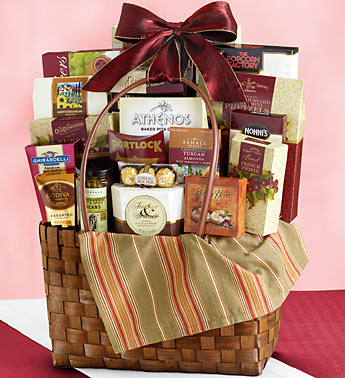Picnic snacks for two gift basket tote