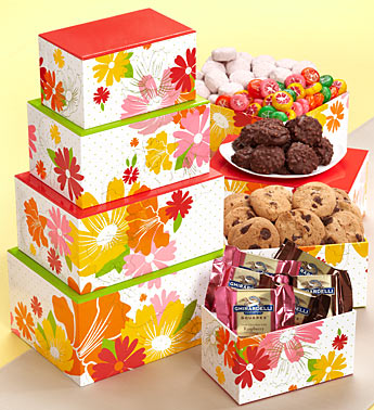 Flowering Fields Spring Gift Basket Gift Tower