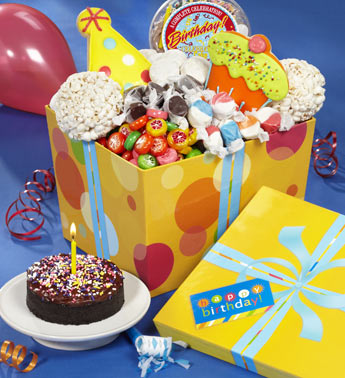 Great Big Happy Birthday Sweets & Treats Box Gift Basket