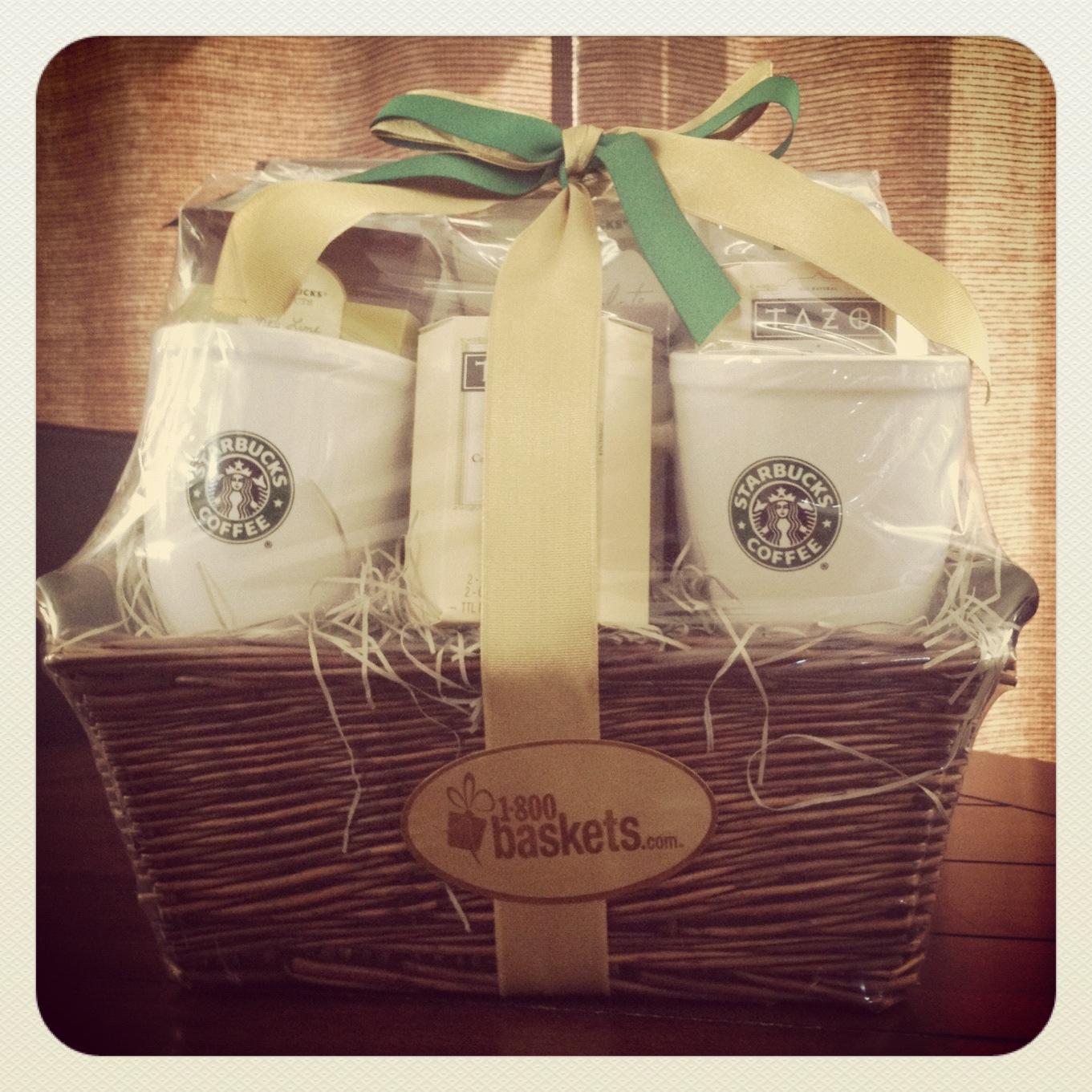 Starbucks Break Time Gift Basket - 1800Baskets ...