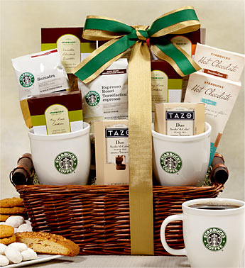 starbucks coffee and tea gift basket graduation gift