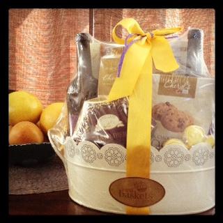 wine gift basket spring
