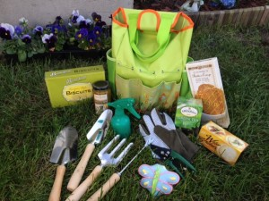gourmet garden tote with tools gift basket