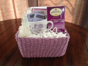 Thoughts of You Stationery & Tea Gift Basket
