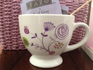 thinking of you tea and stationary gift basket