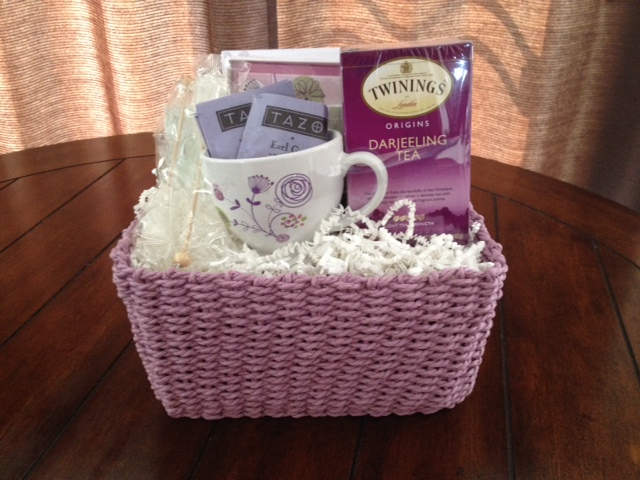 Thoughts Of You Stationery Amp Tea Gift Basket 1800baskets