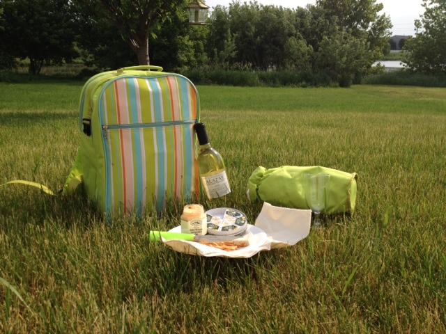 wine picnic backpack gift basket