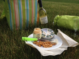 wine picnic backpack gift basket