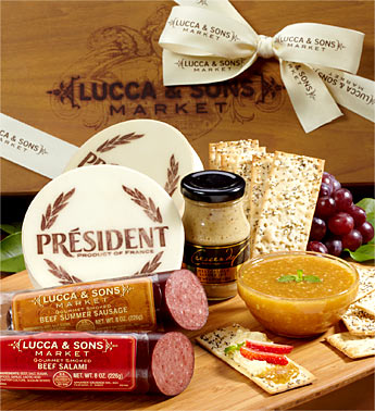 meat and cheese gift basket picnic