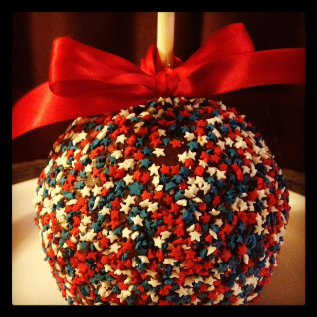 fourth of july party candy apple