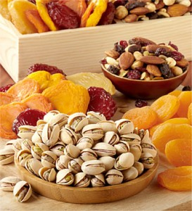fresh fruit and nut gift