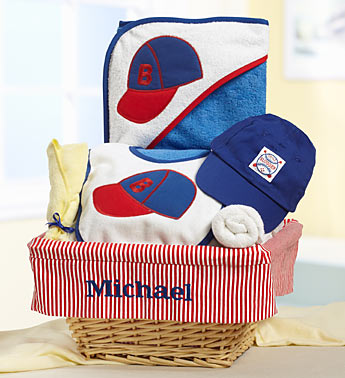 New baby gift baskets archives 1800baskets1800baskets personalized baby boy little slugger gift basket negle Image collections