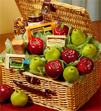Fruit & Cheese Deluxe Picnic Gift Basket