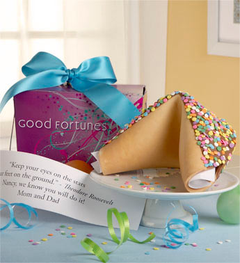 Personalized Gigantic Confetti Fortune Cookie