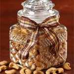 Glass Jar with Jumbo Cashews