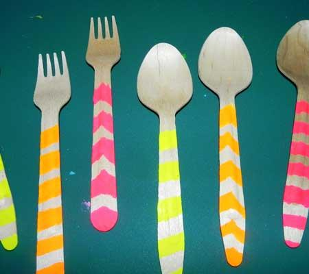 diy-neon-utensils-summer-parties-1