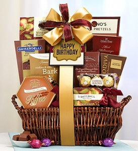 Deluxe Balsam Happy Birthday Basket