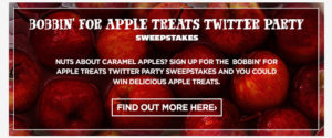 bobbin for Apple Treats Twitter Party Sweepstakes