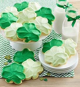 Cheryl's St. Patrick's Day Shamrock Cookie Cutouts