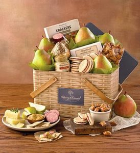 Fresh fruit baskets from 1800baskets.com! This beautiful tin basket features remarkable pears and delicious summer favorites