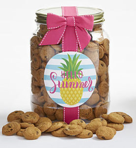 Keep a large or medium size jar of chocolate chip cookies on hand this summer for a beach day.