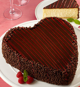 Win the luscious heart shaped cheesecake for Valentine's Day in the 1800Baskets.com Valentines Sweepstakes.