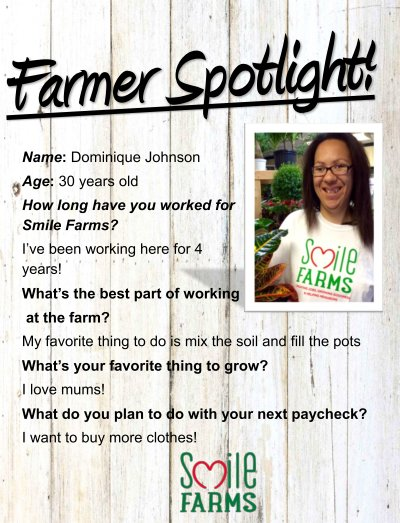 farmer spotlight, Dominique Johnson